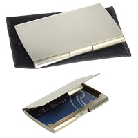 E8839: Metal silver / nickel business card holder