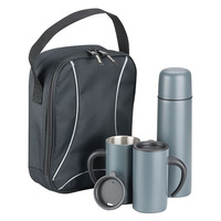 ETK1004: Trekk thermal drink flask, two mugs and insulated bag